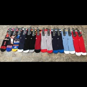 Stance NBA 558 Sock Lot (10 pairs) Large NWT